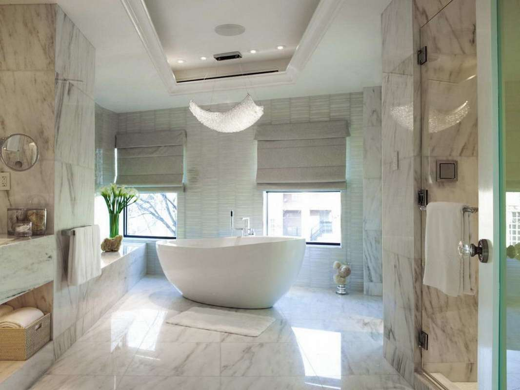 How to clean marble floor in bathroom - Location