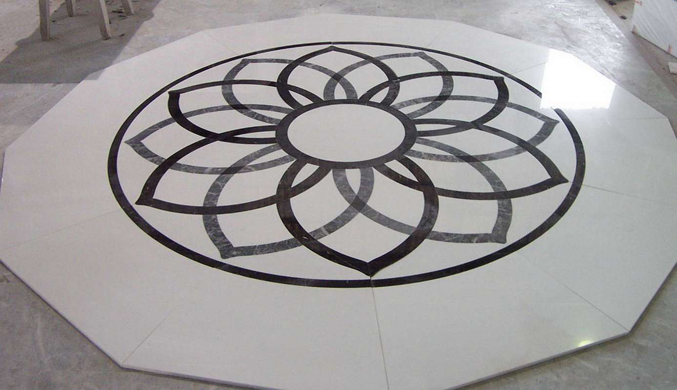 Marble Inlay Floor Gold : Marble floor inlays lovely marbles